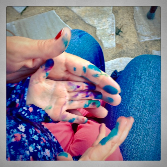 Paint hands with Leah